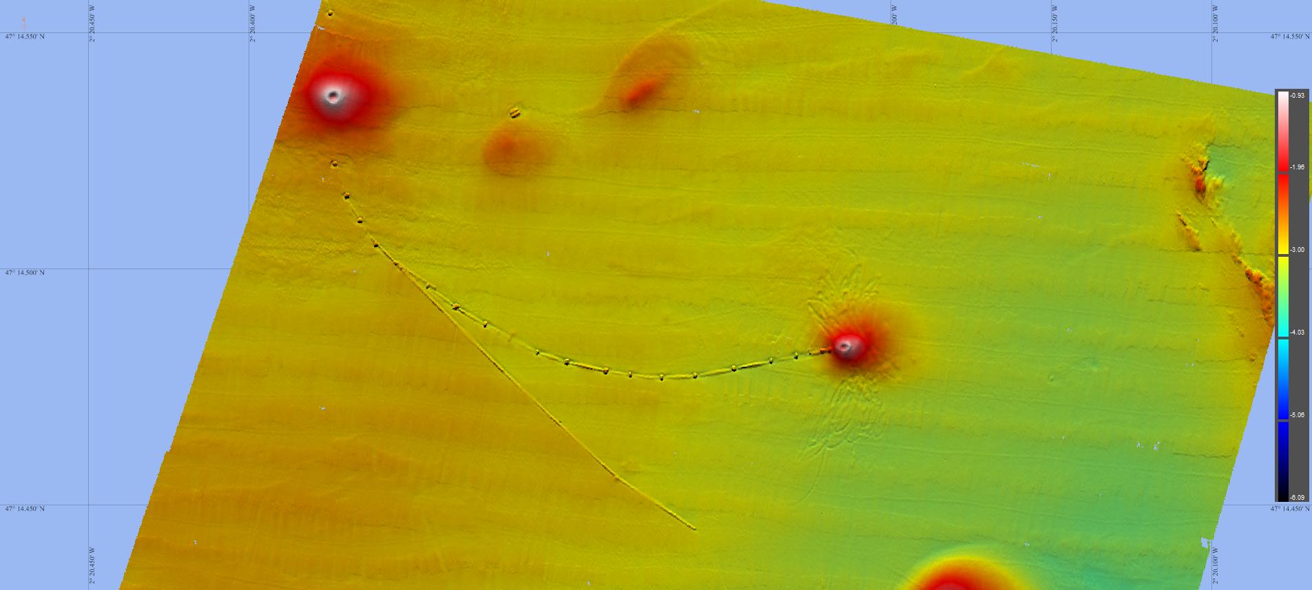 visualisation des rejets produits de dragage par des conduites immergées